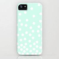 Polka Dot Diffusion in Mint iPhone Case by kaseymargaret | Society6