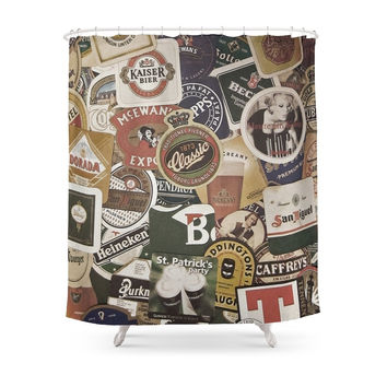 Society6 Beer Shower Curtains