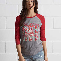 Tailgate Wisconsin Badgers Raglan, Faded Red