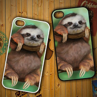 sloth wallpaper Y0812 LG G2 G3, Nexus 4 5, Xperia Z2, iPhone 4S 5S 5C 6 6 Plus, iPod 4 5 Case