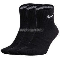 Nike Dri Fit Cushion Crew Black White Mens Socks 3 Pairs SX479300-1_3