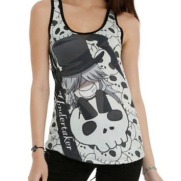 Black Butler Undertaker Girls Tank Top