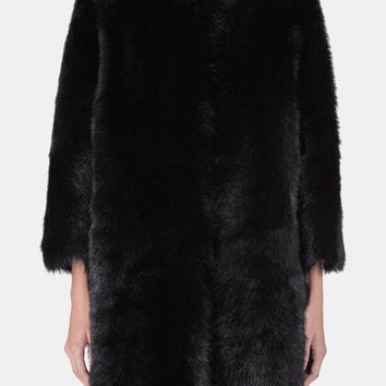 Pologeorgis — Collarless Black Dyed Toscana Nappa Back Shearling — THE LINE
