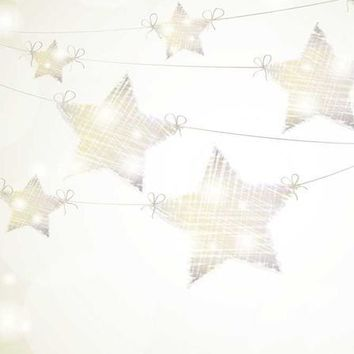 String Lights Stars Platinum Cloth Backdrop - 6x8 - LCPC9315 - LAST CALL