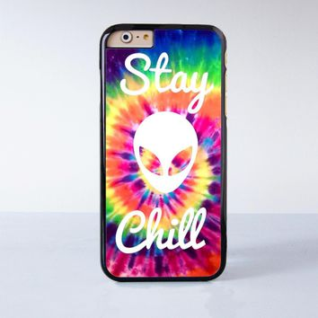 Stay Chill Alien Plastic Case Cover For Apple Iphone 7 7 Plus 4 4s 5 5s 5c 6 6s Plus