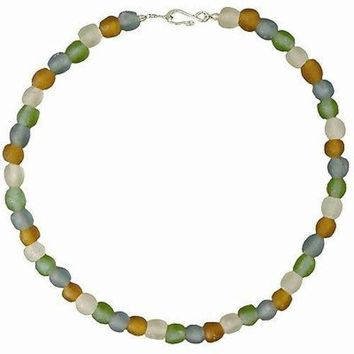 Rainbow Pearl Glass Bead Necklace (GC)