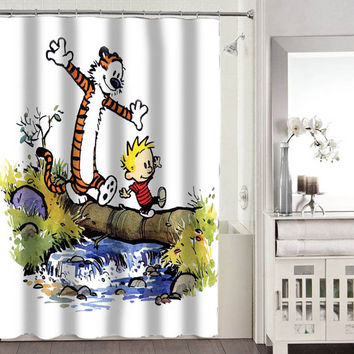 calvin and hobbes shower curtains adorabel bathroom heppy shower curtains.