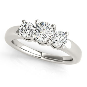 Timeless 3 Stone Round Diamond Engagement or Anniversary Ring (1 ct. tw.)