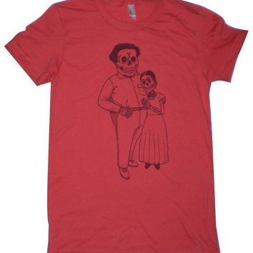 Frida and Diego Womens ORGANIC TShirt S M L XL in by MisNopalesArt