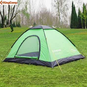KingCamp Pop-Up Dome Tent outdoor Camping tent family Lightweight Quick Automatic Openning Tent For 2-3 Persons
