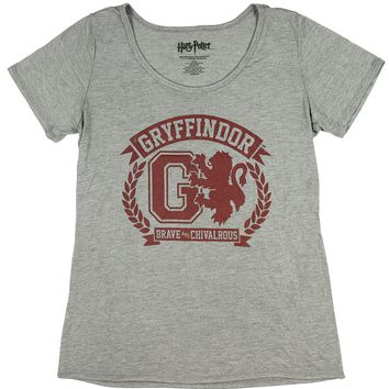 Harry Potter Juniors Gryffindor Brave And Chivalrous Athletic T-Shirt
