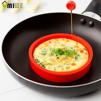 4Pcs Omelette Maker Mold Round Shape Silicone Nonstick Frying Egg Mould Shape Ring Pancake Rings Mold For Kitchen Cooking Mould
