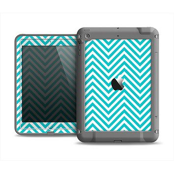 The Trendy Blue & White Sharp Chevron Pattern Apple iPad Air LifeProof Fre Case Skin Set