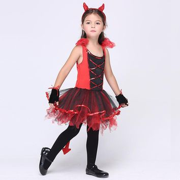 Catwoman Cat Cosplay Halloween Christmas Carnival Costumes Kids Girls Children Dress Party Performance Red Clothes