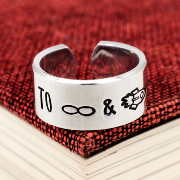 To Infinity and Beyond Ring - Adjustable Aluminum Cuff Ring