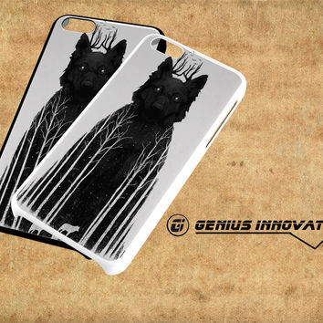 The Wolf King Samsung Galaxy S3 S4 S5 Note 3 , iPhone 4(S) 5(S) 5c 6 Plus , iPod 4 5 case