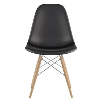 Mid Century Dowel Side Chair Milano Black