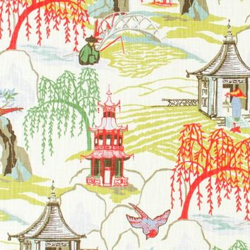 Robert Allen Fabric 236518 Neo Toile Coral