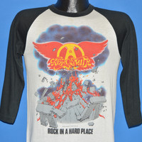 80s Aerosmith Rock In A Hard Place Jersey t-shirt Small