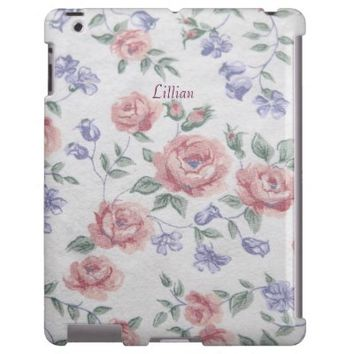 rose fabric from 70s iPad case