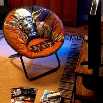 Star Wars® Saucer Chair Yoda Folding Den Gaming Bedroom Dorms Lounge Furniture