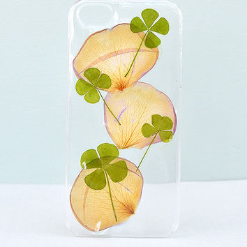 Floral iPhone 5/5s Case Made With Pressed Flowers by Aura & Aura