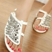 Retro Flat Sandals from guipure
