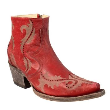 Corral Red Laser Ankle Boots