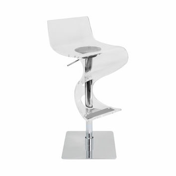 Viva Acrylic Bar Stool Clear by Lumisource