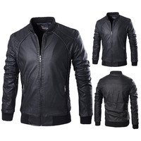 New Quilted Design Black Leather Jacket