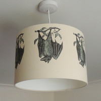 30cm lampshade with bats gothic nature by KettleOfFishDesigns