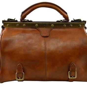 Genuine  Tanned Leather Doctor Bag