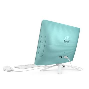 "HP 20-c023w Dreamy Teal All-in-One PC with 19.5"" HD+ Display, Intel Celeron J3060 Processor, 4GB Memory, 500GB Hard Drive and Windows 10 Home - Walmart.com"