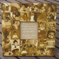 """Personalized Parent's Thank You Gift, Unique Wedding Picture Frame, Mother of the Bride Gift, Father of the Bride Gift, 12"""" X 12"""" Collage"""