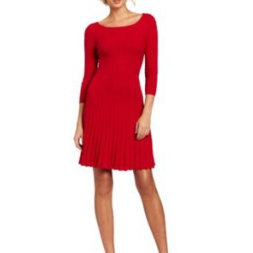 BCBGMAXAZRIA Women's Cable-Knit Dress