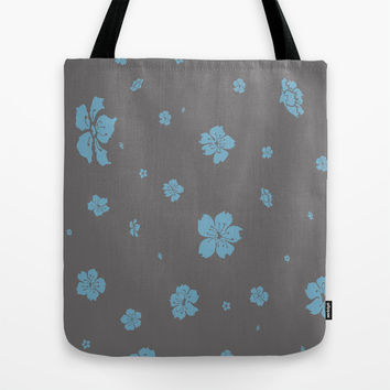 Blue Cherry - In Memory of Mackenzie Tote Bag by Maria Moreno