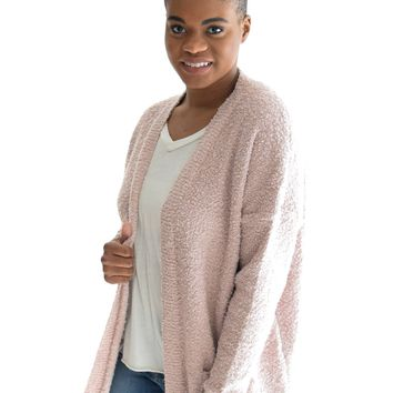 Keep It Cozy Cardigan In Blush