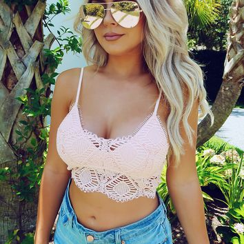 Wild Winds Bralette: Soft Pink