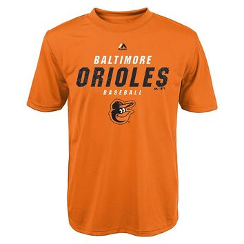 Majestic Baltimore Orioles All the Way Game Performance Tee - Boys 8-20, Size:
