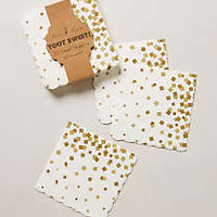 Anthropologie - Gold Confetti Paper Napkins