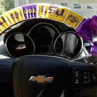LSU  Louisiana State University Tigers  Steering Wheel Cover  Car Accessories
