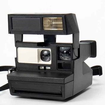 Impossible Vintage Tux Polaroid Instant Camera Set- Black One
