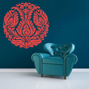 Wall Decal Vinyl  Mural Sticker Art Decor Bedroom Yoga Kitchen Ceiling Mandala Menhdi Flower Pattern Ornament Om Indian Hindu Buddha (z2843)