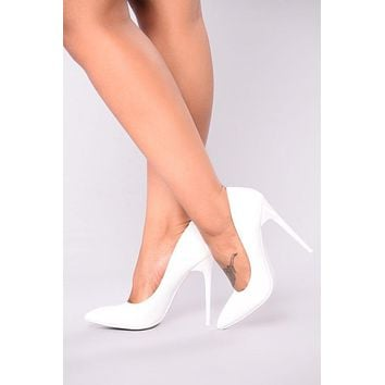 Faith Pump - White