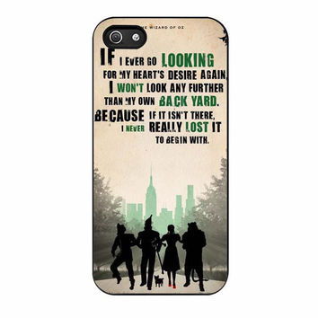 the wizard of oz poster movie quote iphone 5 5s 4 4s 5c 6 6s plus cases