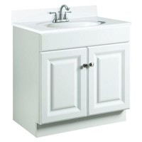 Design House Wyndham 24 in. W x 18 in. D Vanity Cabinet Only in White Semi-Gloss-531731 at The Home Depot