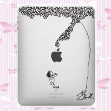 Black Giving Tree Decal for Apple iPAD by WallArtForLess on Etsy