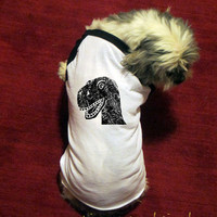 Dog Shirt - Dinosaur Head - T Rex - Cute Dog Tshirt - Funny - Pet Gift - Clothing - Accessory - Long Sleeved - Puppy - Gift Friendly