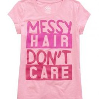 Messy Hair Graphic Tee | Girls Graphic Tees Clothes | Shop Justice