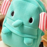 Cute Mint Elephant Backpack